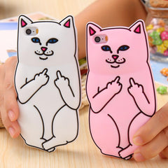 Soft Silicon funny Cat Case For iPhone - gopowear.com