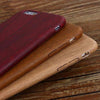 Vintage Wood Pattern Leather Cases For iPhone