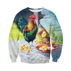3D printed Chickens Painting Clothes