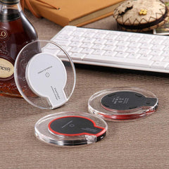 New Crystal Wireless Charger Charging Pad + Receiver + Clear Case Cover for iPhone 5/5s SE/6/6s/7 - gopowear.com