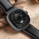 MEGIR Men's Casual Quartz Watch 3D Engraved Dial Waterproof Military Sport Watch MG2027 - gopowear.com