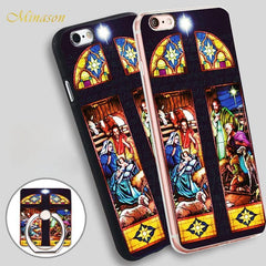 Stained glass nativity Soft TPU Silicone Case for iPhone - gopowear.com