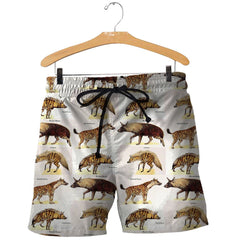 3D All Over Printed Different Types of Hyenas Shirts And Shorts