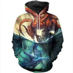 3D All Over Printed Dragons Shirts and Shorts