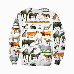 3D All Over Printed Farm Animals Shirts And Shorts