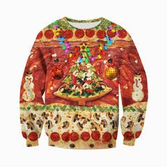 3D All Over Printed Christmas Pizza Shirts and Shorts