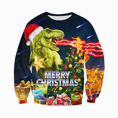 3D All Over Printed Dinosaurs Christmas  Shirts and Shorts