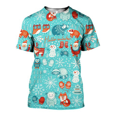 3D All Over Printed Hello Winter Shirts and Shorts