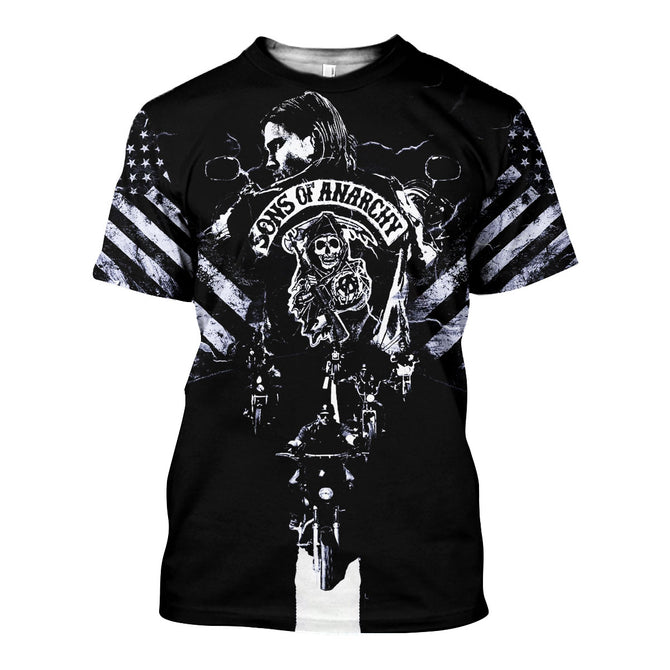 3D All Over Printed Son of Anarchy Shirts And Shorts - gopowear.com