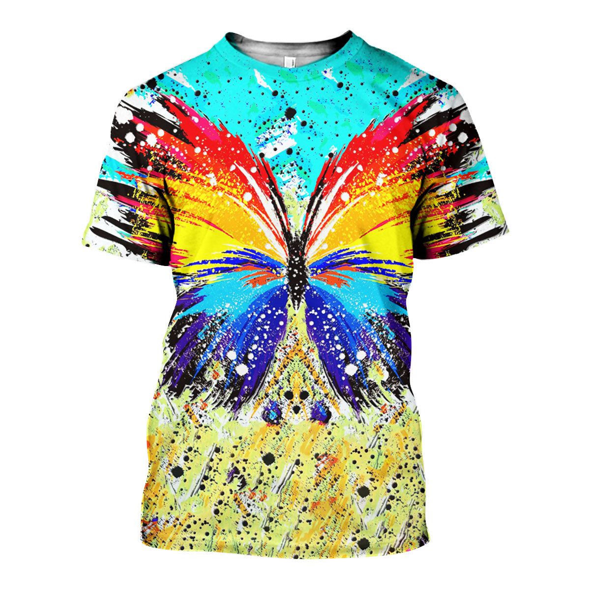 3D All Over Printed Butterfly Painting Shirts And Shorts - gopowear.com