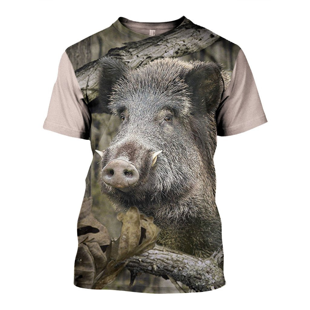 3D All Over Printed Camo Boar Shirts and Shorts