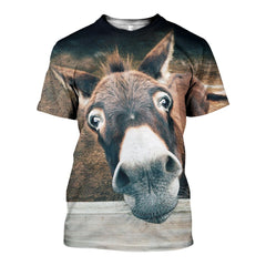 3D All Over Printed Donkey Animal  Shirts and Shorts