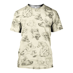 3D All Over Printed Drawing Hyenas  Shirts and Shorts