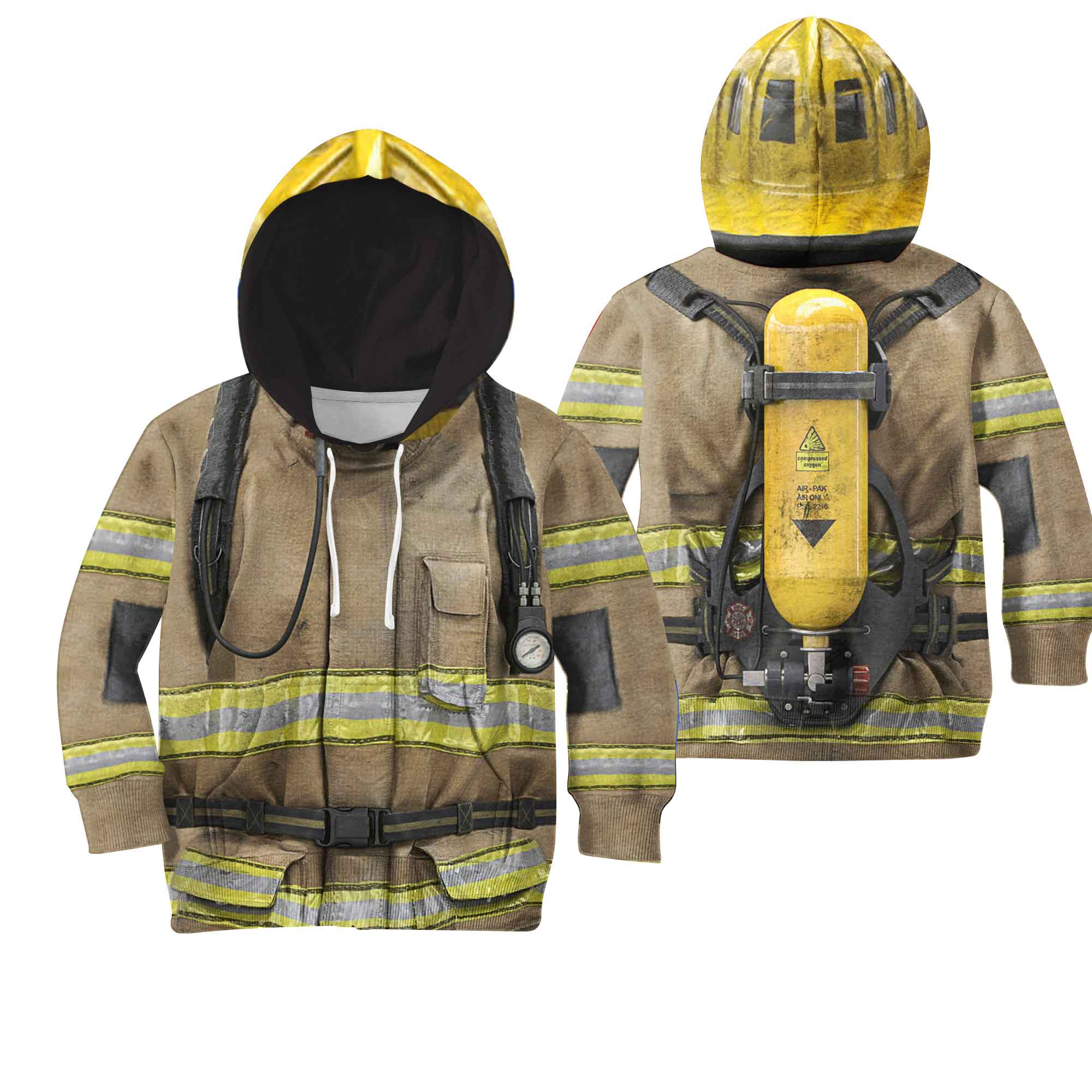 Firefighter Suit 3D All Over Printed Shirts For Kids