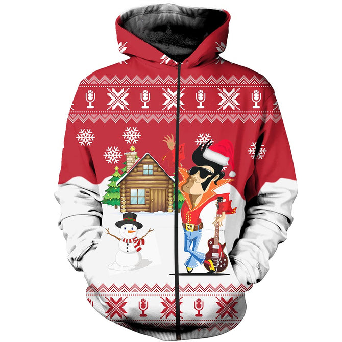 Christmas Ugly Sweater.3d All Over Printed Christmas Ugly Sweater Elvis Presley Shirts And Shorts