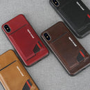 Genuine Leather Cases with Slim Card Holder for iPhone X - gopowear.com