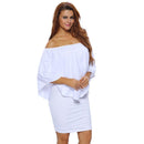 Summer Women's Plus Size Off Shoulder Sexy Oversize Dresses  XXL XXXL - gopowear.com