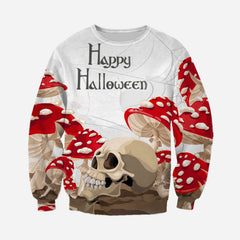 3D All Over Printed Halloween Mushroom Skull  Shirts and Shorts