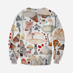 3D All Over Printed Champignon Watercolor Vintage Shirt