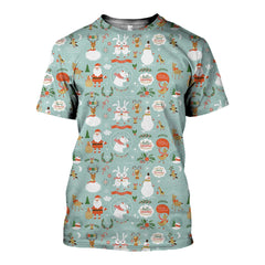 3D All Over Printed Hello Chrismas Shirt