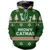 3D All Over Printed Ugly Sweater Meowy Catmus Shirts and Shorts