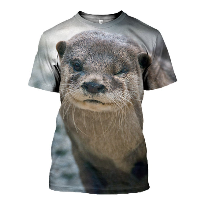 3D printed Otter T-shirt Hoodie ATAL180401