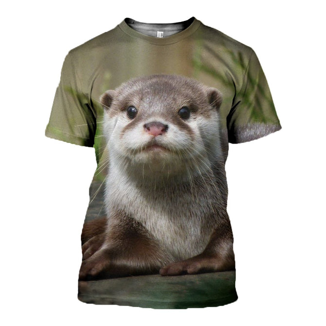 3D printed Otter T-shirt Hoodie ATAL180403