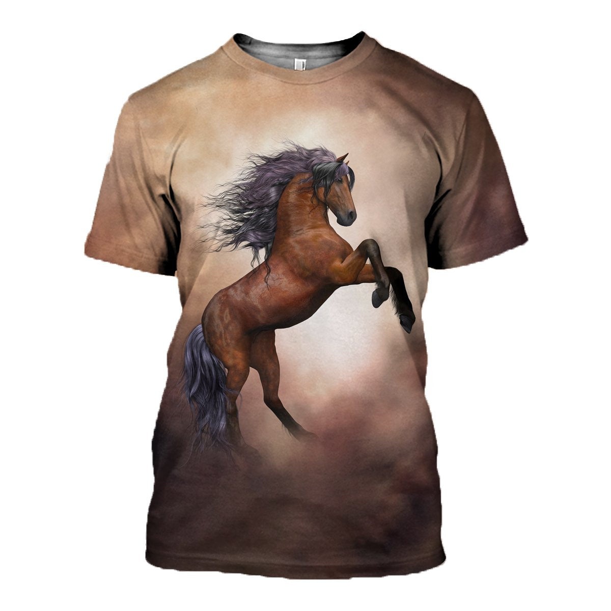3D printed Horse T-shirt Hoodie ST0L070502