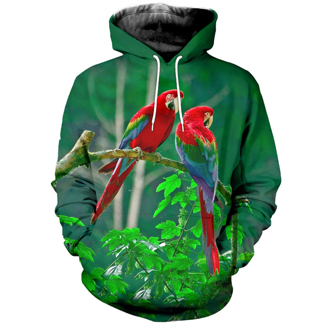 3D printed Parrot T-shirt Hoodie ST0L190409