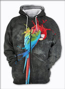 3D All Over Printed Parrot T-shirt Hoodie ST0L170403