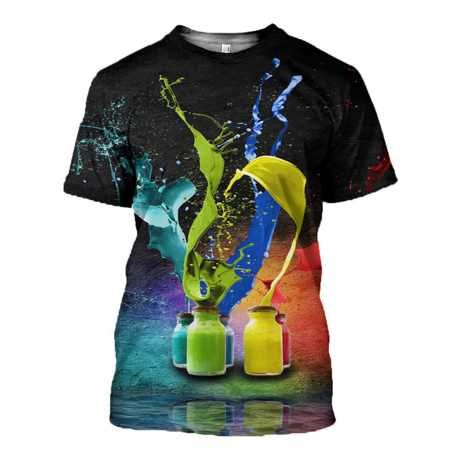 3D printed Color T-shirt Hoodie ST0L170406