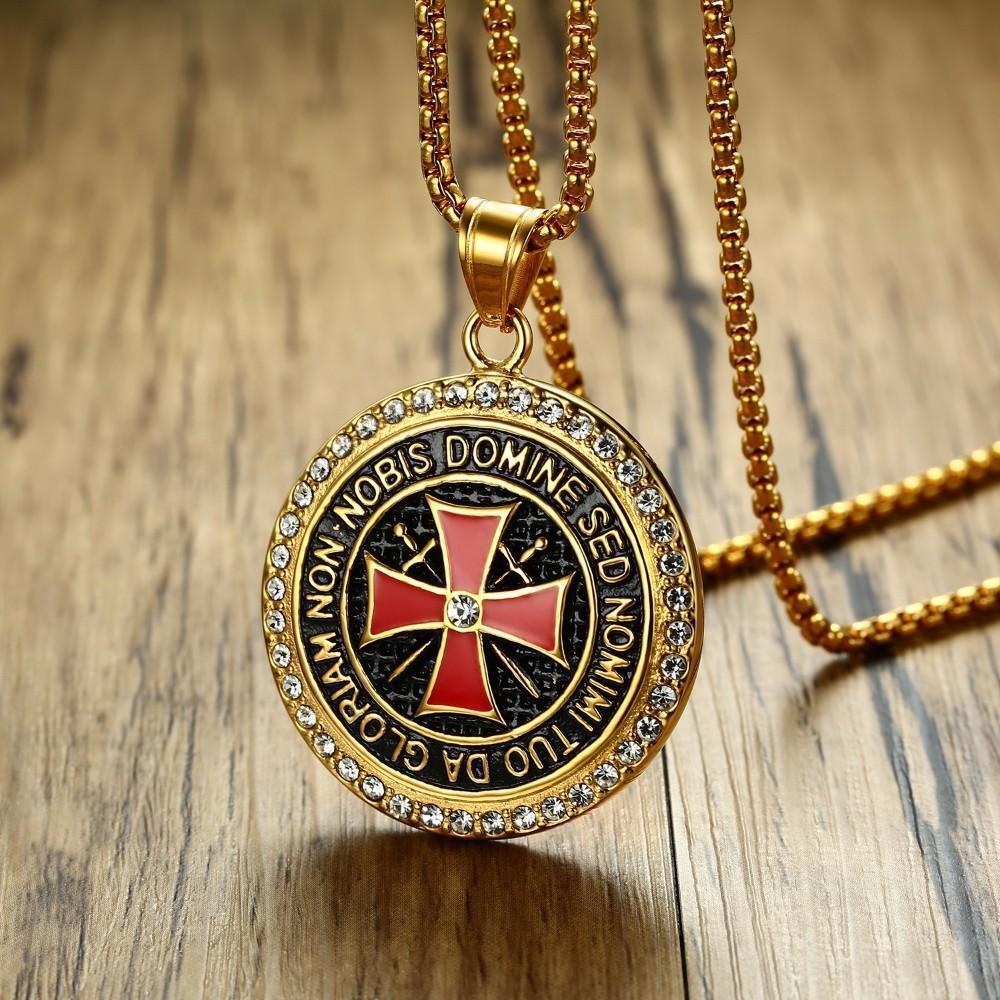 Vintage Knights Templar Cross Necklace