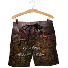 3D All Over Printed Heavy Equipment Operator Shirts and Shorts