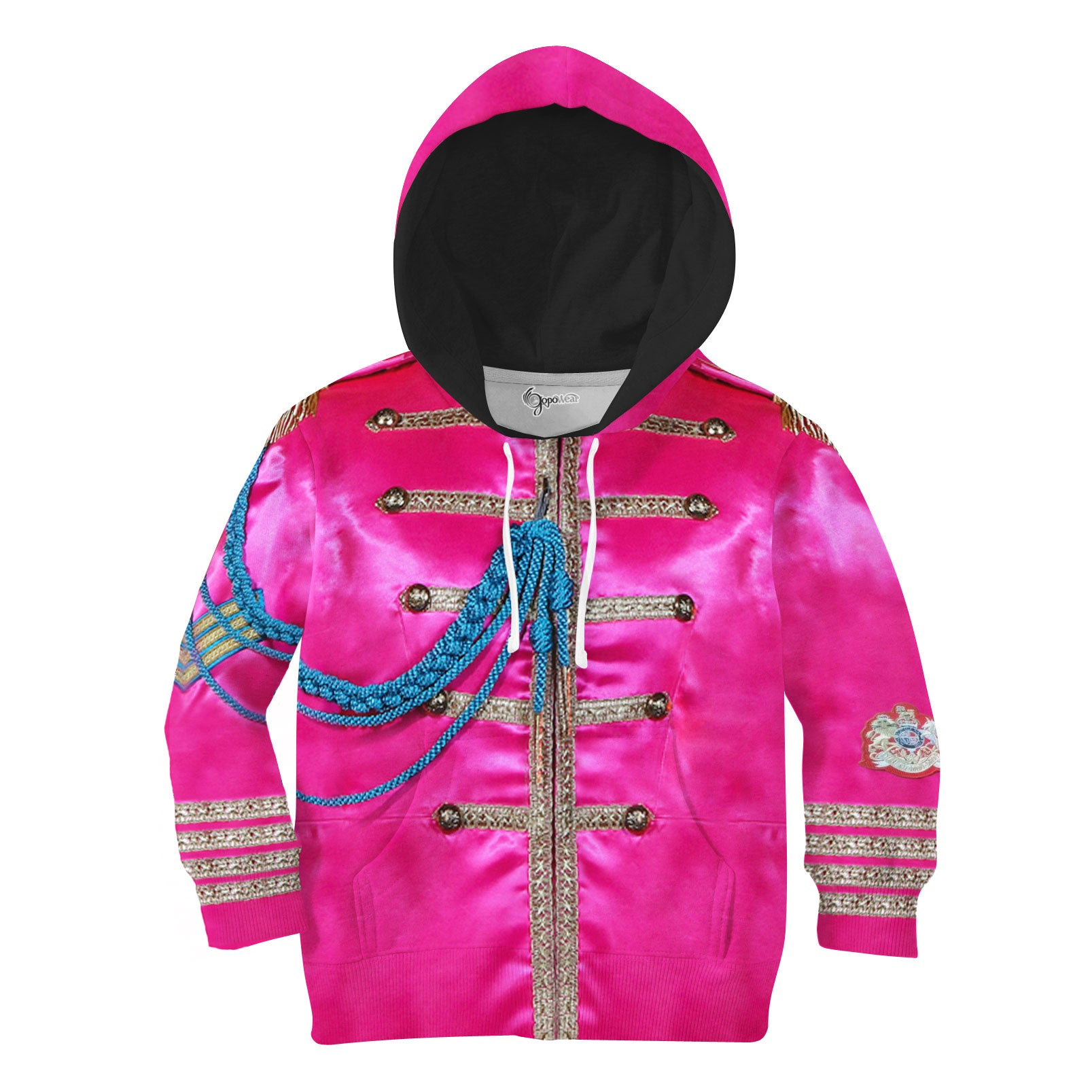 Military Jacket 3D All Over Printed Shirts For Kids