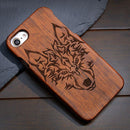 "Carving Natural Wood Shockproof Hard Cases iPhone 7 6 6s 4.7"" Plus 5.5"" 5S SE - gopowear.com"