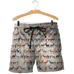 3D All Over Printed Deer Collection Shirts and Shorts