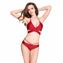 Halter Beach Bikini Set Swimsuit - gopowear.com