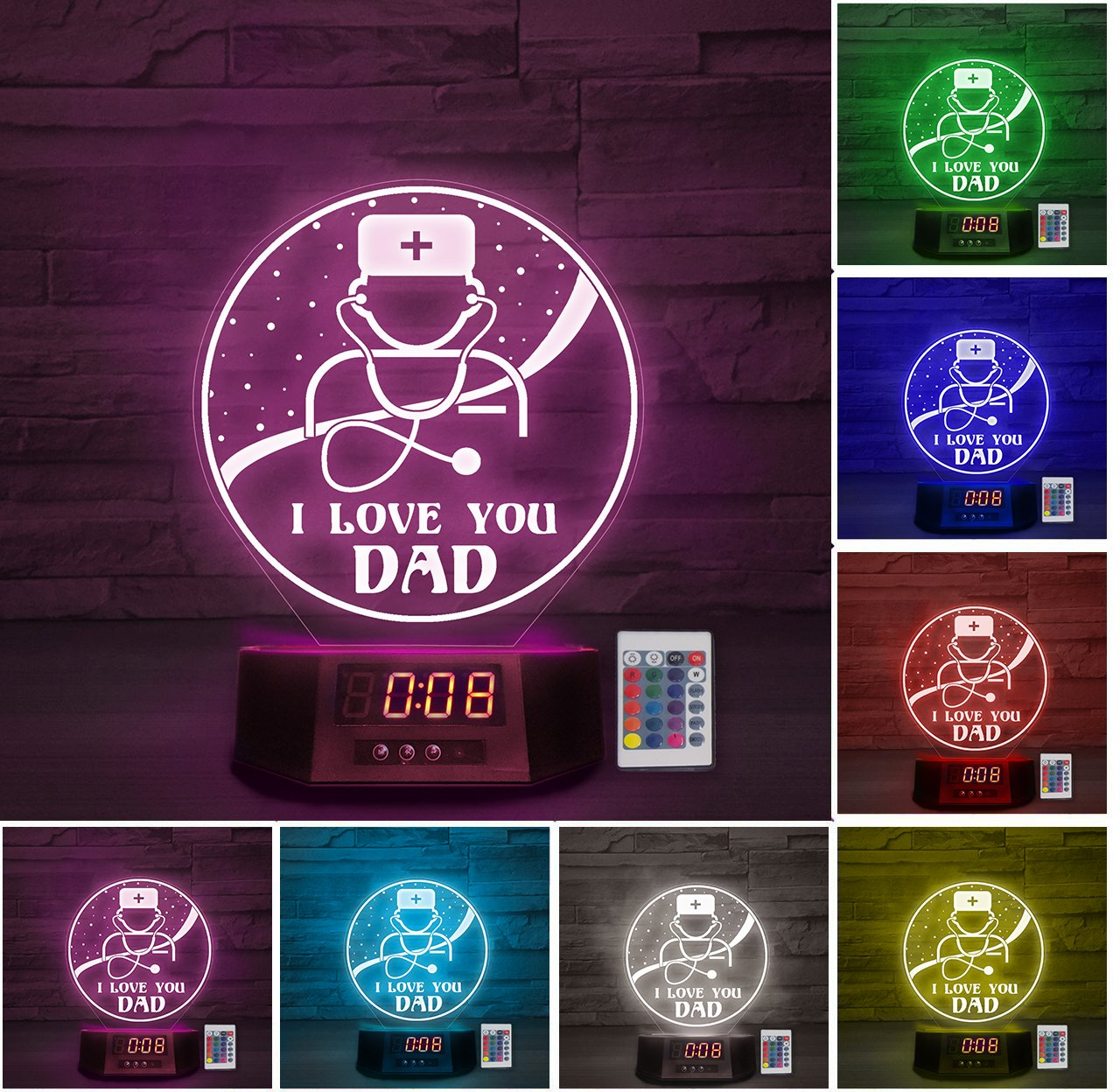 LED Lamp - I love you DAD - Doctor ATDK190401A