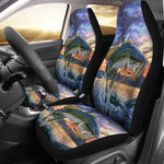 2pcs Car Seat Cover - Bass Fish - gopowear.com