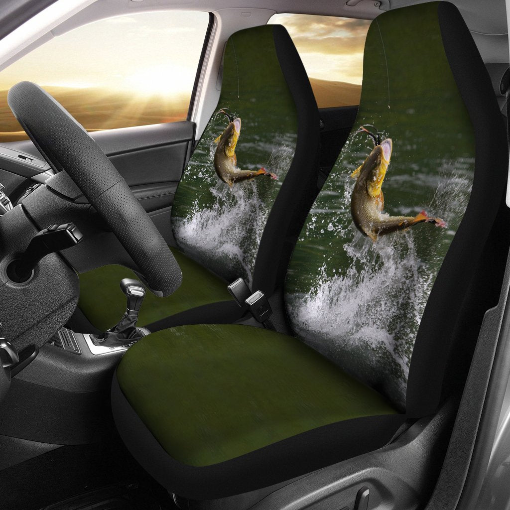 Car Seat Covers -  Bass Fishing