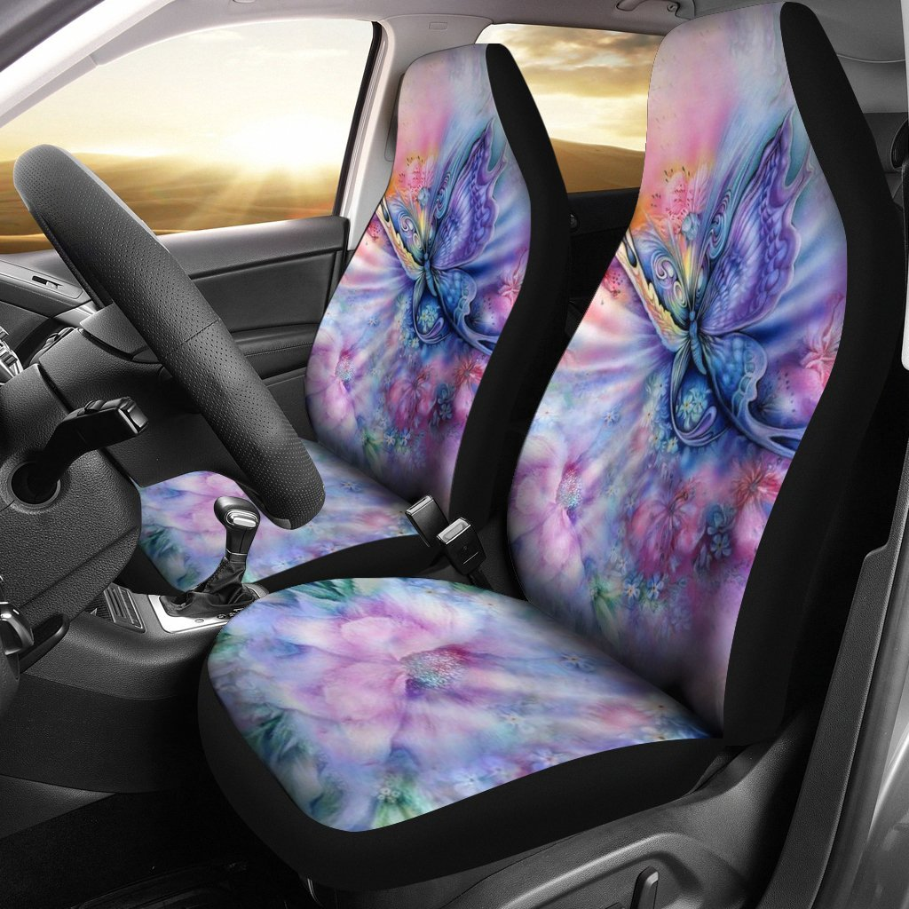 2pcs Butterfly Car Seat Cover