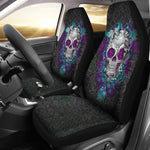 2pcs Skull Car Seat Cover