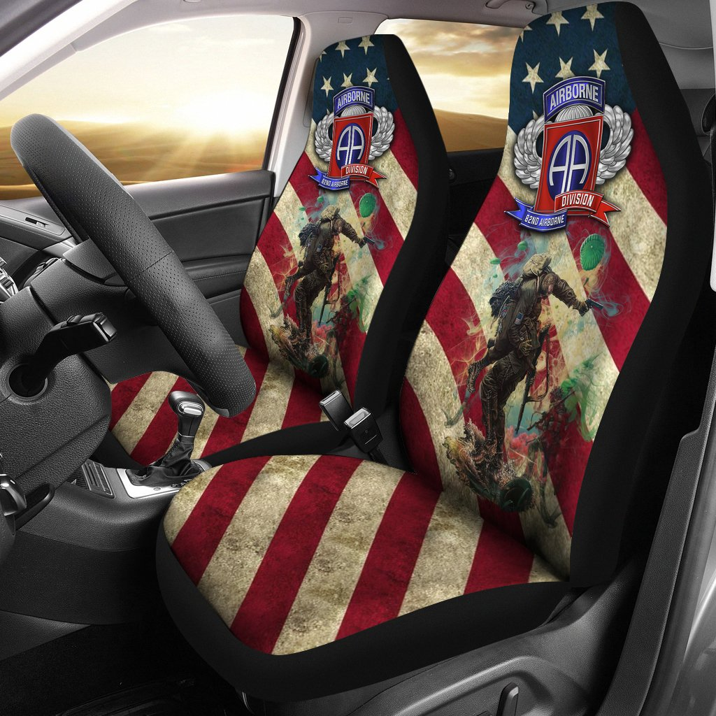 Car Seat Covers - US Paratrooper