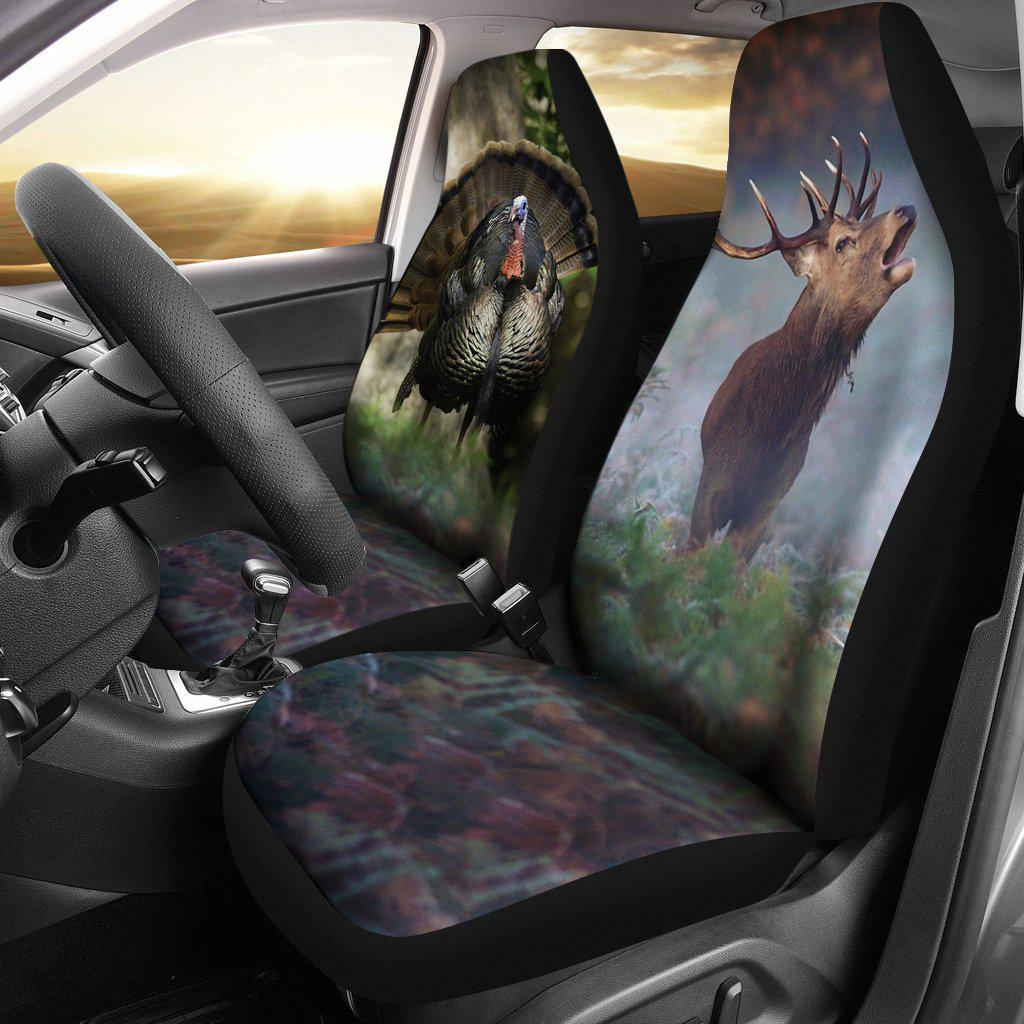 2pcs Turkey and Deer Car Seat Cover
