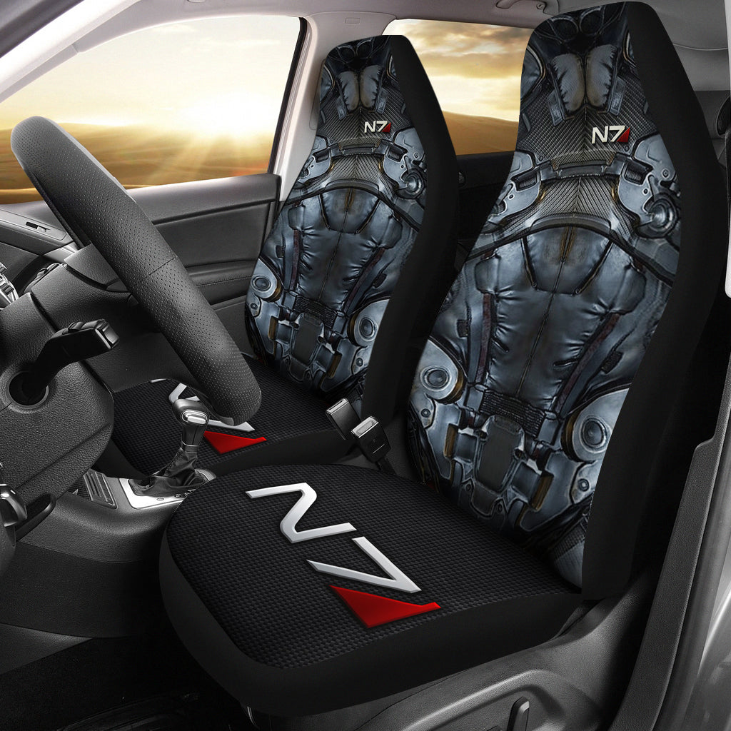 2pcs Mass Effect Car Seat Cover