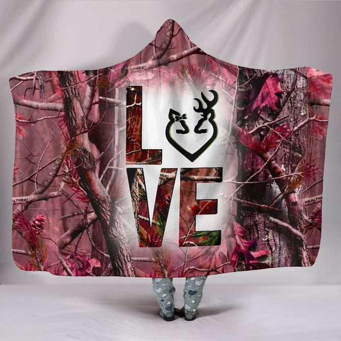 Hooded Blanket Country girl Pink camo ADGL300306
