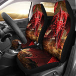 2pcs Dragon Car Seat Cover