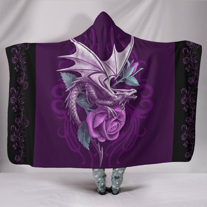 Hooded Blanket Dragon and roses ADGL300302
