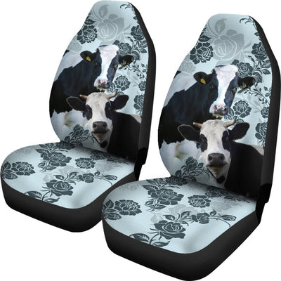 2pcs Cow Car Seat Cover