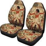 2pcs Ancient Egyptian words Car Seat Cover